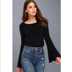 NEW BB Dakota Cropped Bell Sleeve Sweater